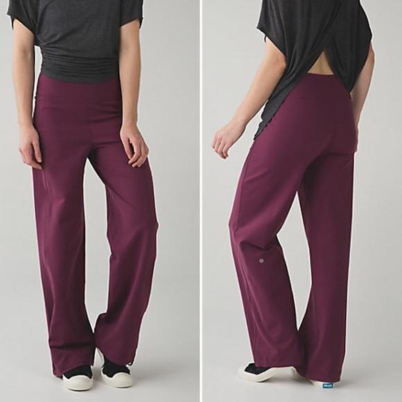 b9121e0f6 lululemon athletica Pants - Lululemon Sit in Stillness Pant Red Grape  Purple 6